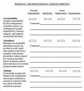 supervisor evaluation 7 free download for pdf sample With supervisor evaluation form template