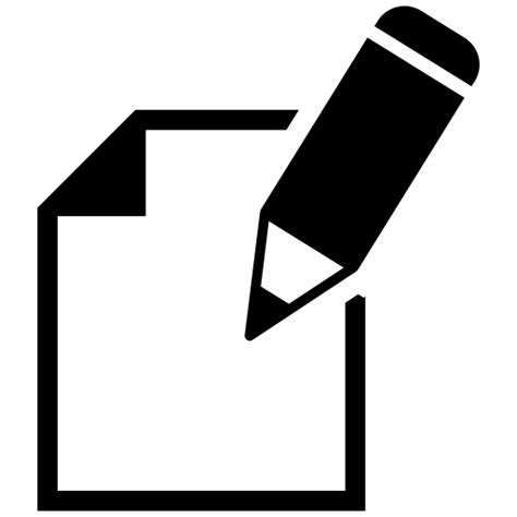 Note, pencil, sheet, writing icon - Free download