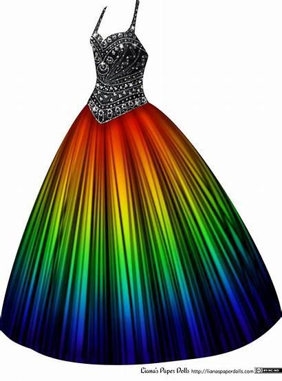 Rainbow Gown Ball Rhinestones Dresses Paper Prom