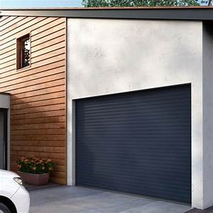 porte de garage enroulable easydoor franciaflex With porte de garage enroulable et porte interieur gris anthracite