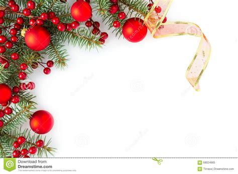 christmas border stock image image  card coniferous