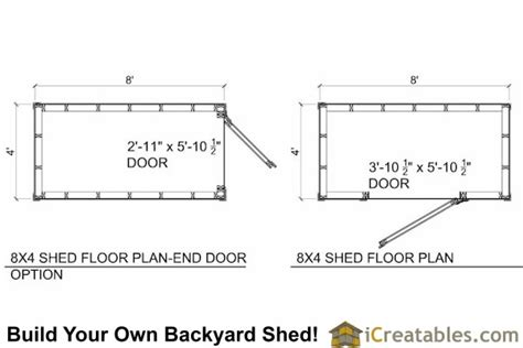 8x4 backyard shed plans icreatables com