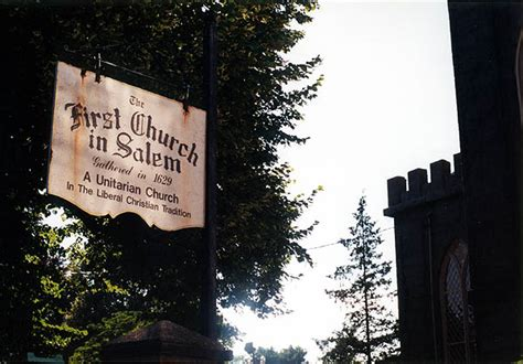 Massachusetts 2001: First Church in Salem Sign