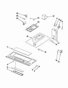 Maytag model MMV1164WS5 microwave/hood combo genuine parts