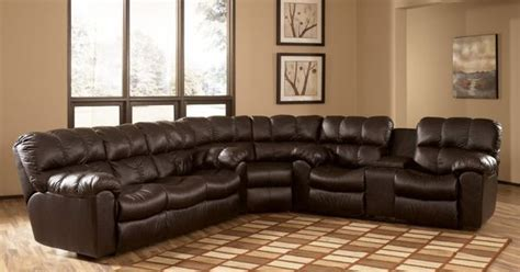 max chocolate reclining sectional collection  ashley
