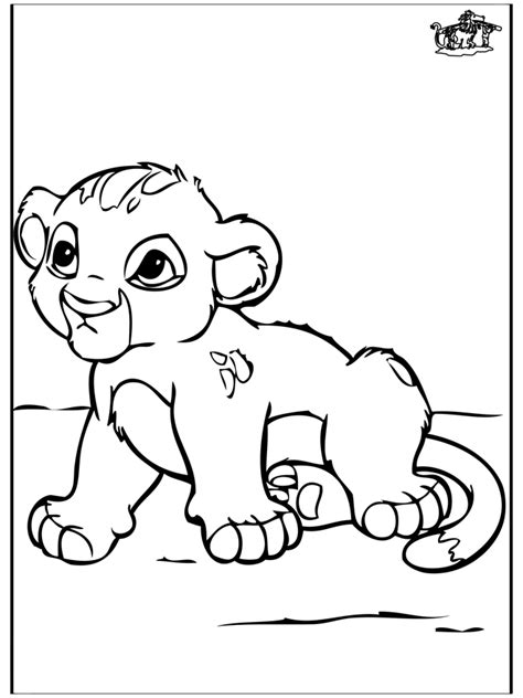 Baby Leeuw Kleurplaat by Baby Leeuwtje Kleurplaten Katachtigen