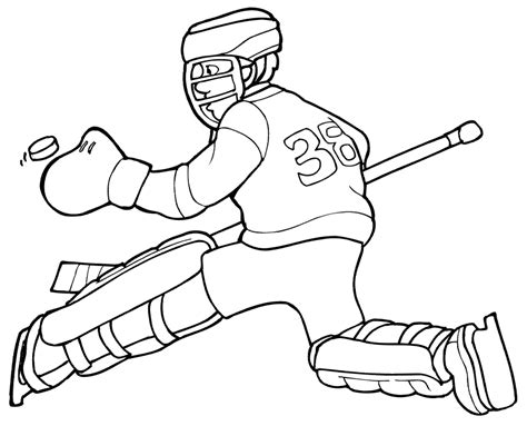 hockey coloring pages free printable hockey coloring pages for