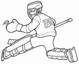 Hockey Coloring Pages Goalie Printable Nhl Team Player Sports Print Logos Players Colouring Sheets Rangers Oilers Canadian Clipart Uniform Getcoloringpages sketch template