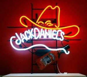 Enseigne Lumineuse Vintage : enseigne lumineuse n on jack daniels cow boy 72 x 70 cm ~ Teatrodelosmanantiales.com Idées de Décoration