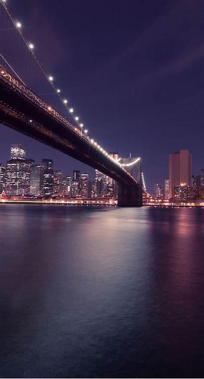 Iphone Night York Fond Wallpapers Jembatan Nuit