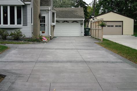 residential driveway driveways concrete and asphalt goodmanson construction