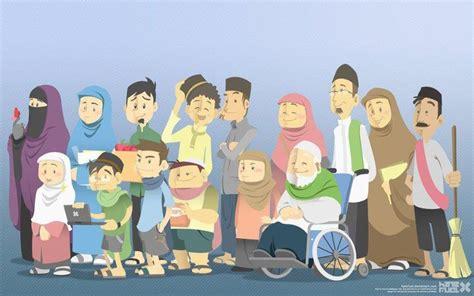 Download 830 Gambar Foto Keluarga Muslim Kartun  Gratis HD