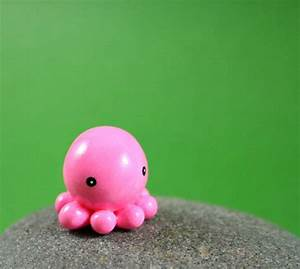 Little Pink Octopus - Hand Sculpted Miniature Polymer Clay ...
