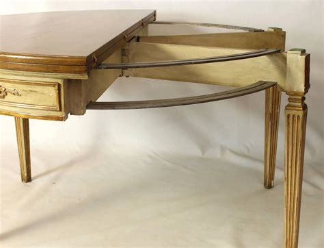 Custom Made Neoclassical Style Demilune Fold Over Console