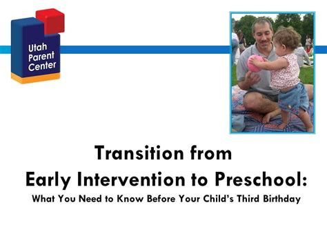 transition from early intervention to preschool transition form early intervention to preschool 106