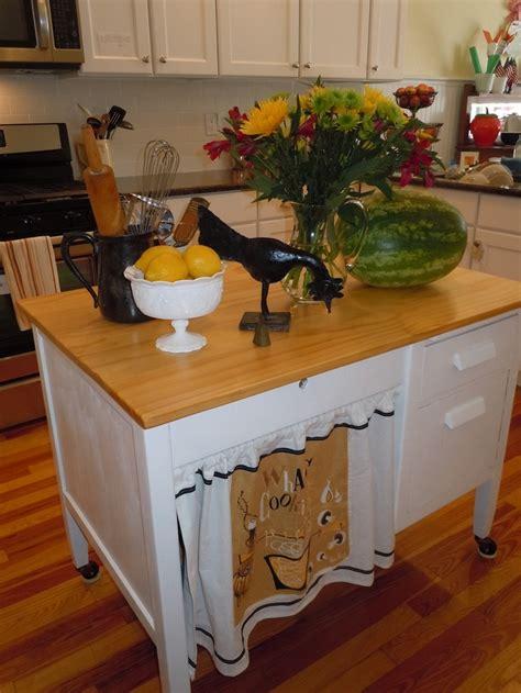 repurpose   student desk   kitchen island