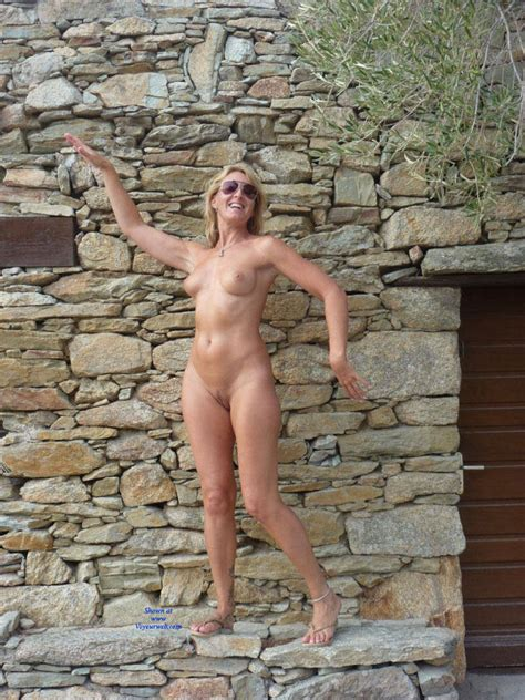 Naked Blonde Womans Outdoor Pose March 2017 Voyeur