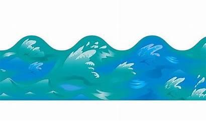 Ocean Clipart Waves Border Clip Water Borders