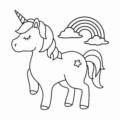 Coloring Unicorn Pages Cartoon Animal Drawing Colouring