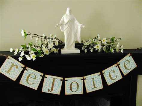 christian easter decorations christian easter decoration rejoice banner sign garland swag