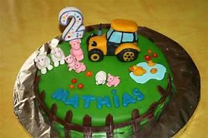 Gateau Anniversaire 2 Ans : g teau d 39 anniversaire ferme et tracteur pour mathias 2 ans ~ Farleysfitness.com Idées de Décoration