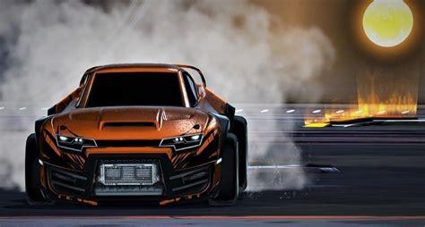 orange car rocket league video game wallpaper cars