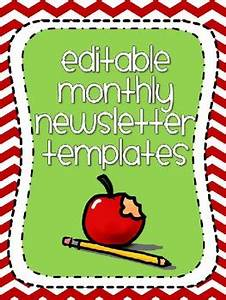 Free Newsletter Templates For Pages Cute Editable Monthly Newsletter Templates Chevron Themed