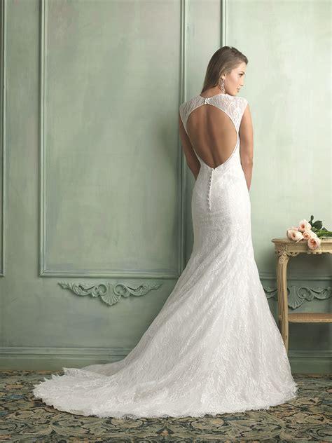 Lace Backless Wedding Dresses Dresscab