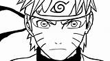 Naruto Sage Mode Outline Uzumaki Manga Coloring Sketch Imgarcade Credit Larger sketch template
