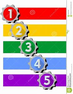 Infographic Template For Presentation Of Five Options Or Steps With Numbers In Gear Shapes