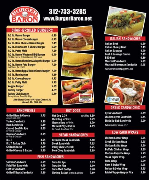 baron cuisine burger baron coupons discounts and deals dogs