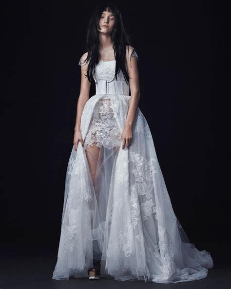 vera wang fall  wedding dress collection dipped  lace