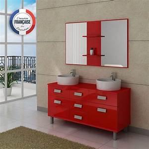 Meuble Salle De Bain 2 Vasques Coquelicot DIS911CO