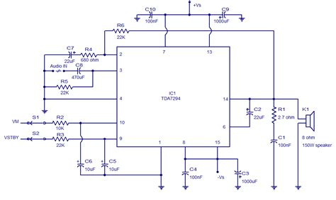 tda  audio amplifiercircuit diagram world