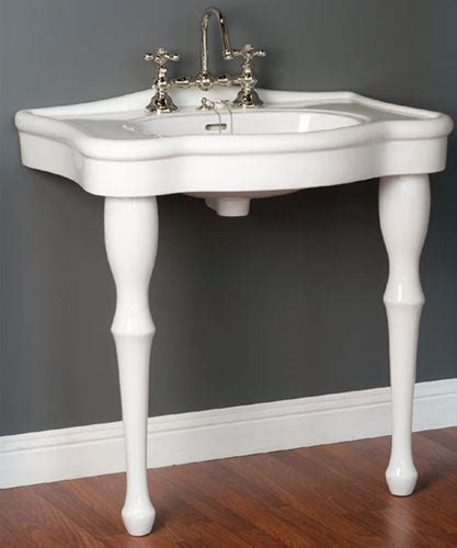 lavatory consoles victorian style  legged bathroom sinks