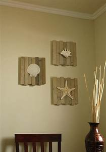 17 best images about wood pallet art scallops wall for Beautiful beach decals for walls
