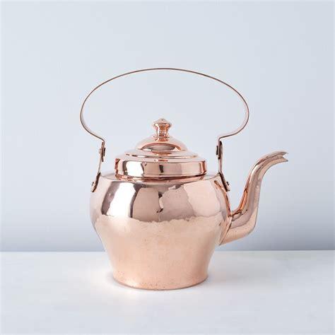 vintage copper french tea kettle late  century tea pots tea copper