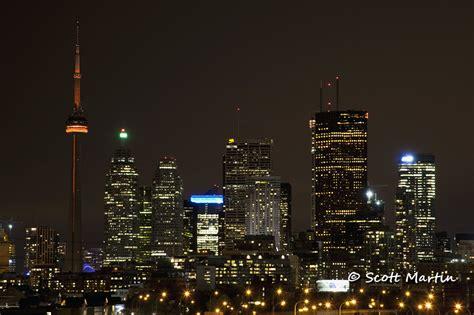 Toronto Night Skyline Nuit Blanche Scott Martin