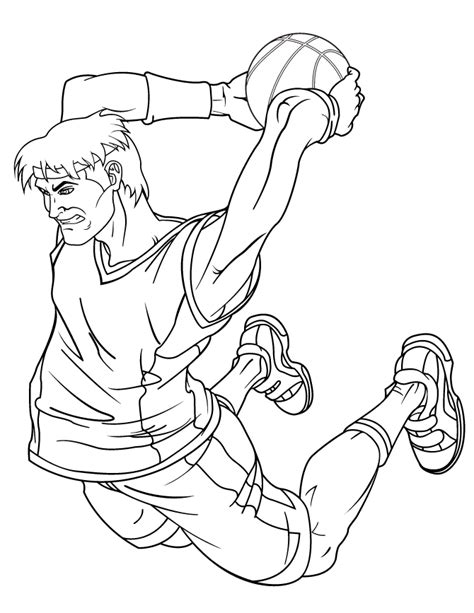 awesome slam dunk for teenagers coloring page h m coloring pages