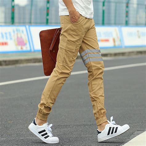 Khaki Joggers New Fashion Slim Fit Mens Sweat Pants Cargo