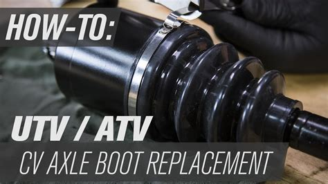 How To Replace A Utvatv Cv Axle Boot  Youtube
