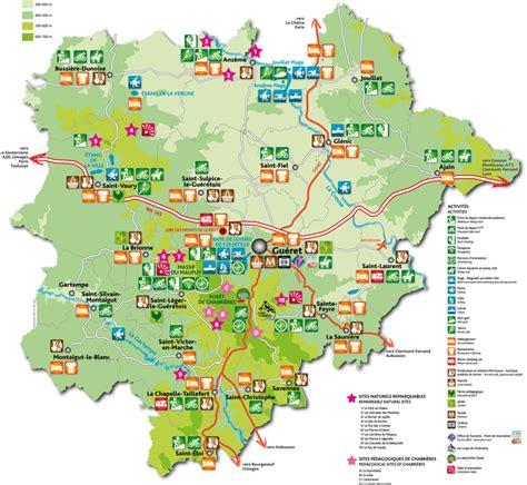 Carte Touristique Du Centre De La by Info Carte Touristique Creuse