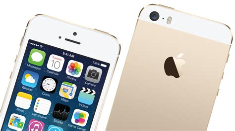 iphone 5s on iphone 5s color of chagne on a white background