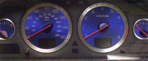 volvo sr vr speedometer cluster blue gauges