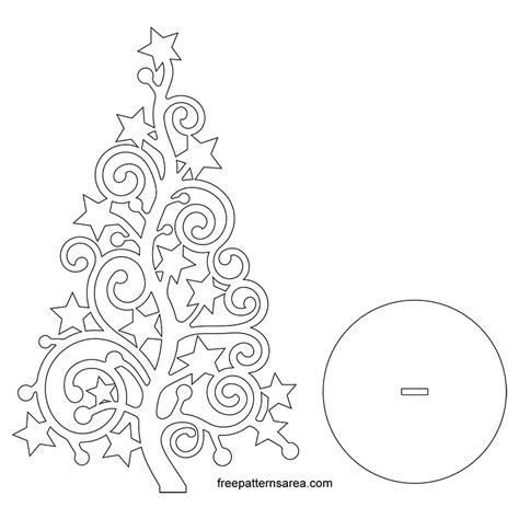 stylized christmas xmas tree silhouette vector art