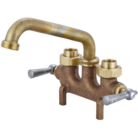 central brass cast brass laundry faucet 0465 the home depot