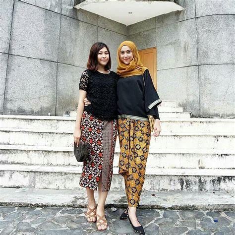 12 contoh model baju batik muslim atasan untuk wanita modern