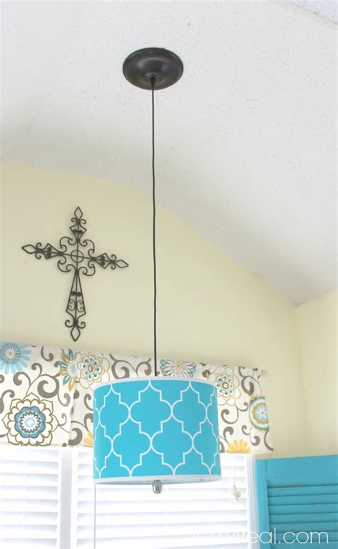 How To Tighten A Ceiling Fan by How To Turn A Lamp Shade Into A Pendant Light Mom 4 Real