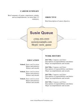 Resume White Space by Centered White Space Resume Template