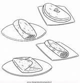 Colorare Omelette Disegno Alimenti Immagine Disegni sketch template